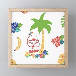 Tropical Monkey Island Framed Mini Art Print