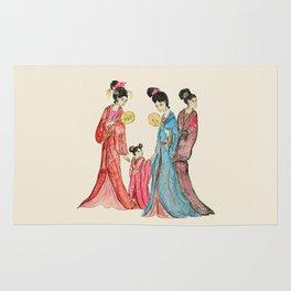 Ancient Chinese ladies painting Rug
