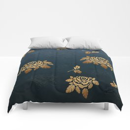 Golden Rose - Glitter Pattern Comforters