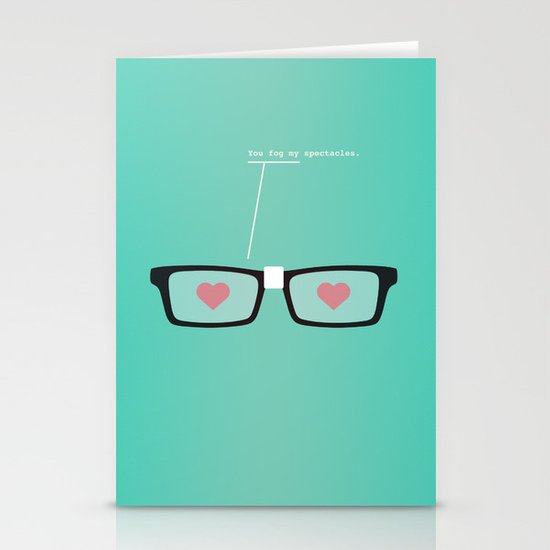 You Fog My Spectacles Stationery Cards