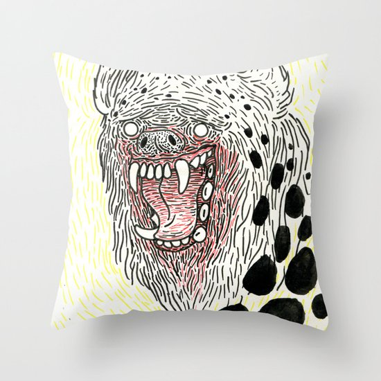 Monstrous and Free Throw Pillow