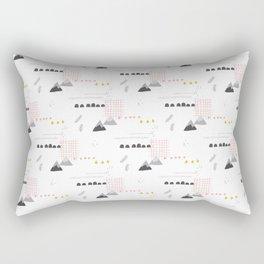 Abstract pink yellow gray geometrical floral Rectangular Pillow