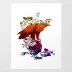 the watchers 3 color version Art Print