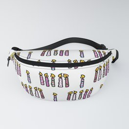 Cute colored birthday candles cartoon pattern Fanny Pack