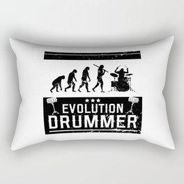 Evolution Drummer | Drums Musician Rectangular Pillow