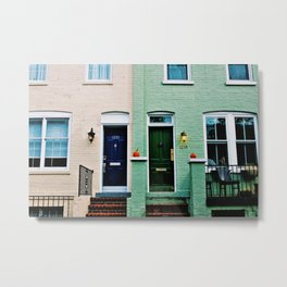 Colorful Townhomes in the Georgetown Autumn Metal Print
