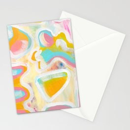 Abstract Acrylic Study  Stationery Cards