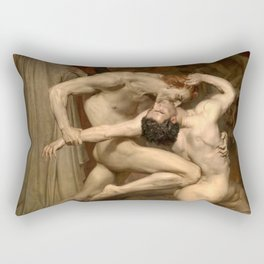Dante and Virgil in Hell Rectangular Pillow