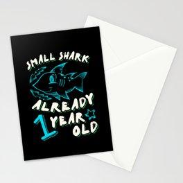 1st Birthday Kids Gift Cute Shark Stationery Cards