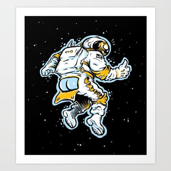 ASStronaut Art Print