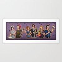 Friends TV Show - Monica Chandler Rachel Ross Phoebe Joey Art Print