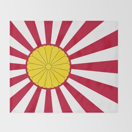 Japanese Flag And Inperial Seal Throw Blanket
