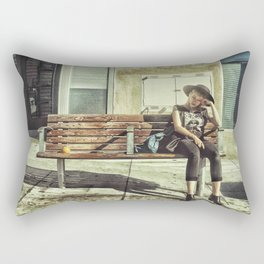 Waiting game Rectangular Pillow