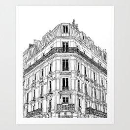 Parisian Facade Art Print