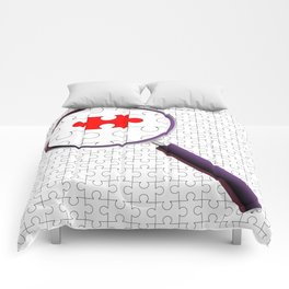 Odd Piece Magnifying Glass Comforters