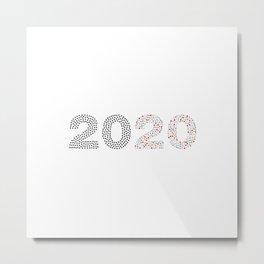 2020 Health Care Symbols Metal Print