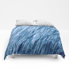 Dublin Bay Waves, Pooleg (Abstract Bokeh ICM Exposure) Comforters
