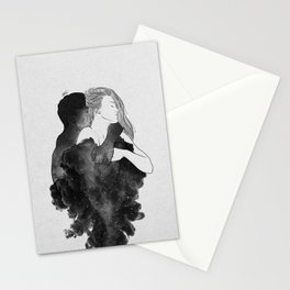 You are my peaceful heaven b&w. Stationery Cards