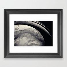 Marble Saturn Framed Art Print