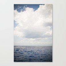 Ocean Sea Clouds Canvas Print