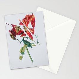 Mutated poppy Stationery Cards