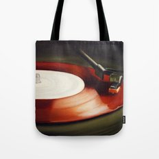 Red Record  Tote Bag