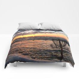 Disc Golf Basket Beach Ocean Innova Discraft Sunset Waves Virginia Vibram Comforters