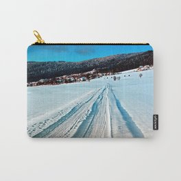 Winter road into the mountains Carry-All Pouch