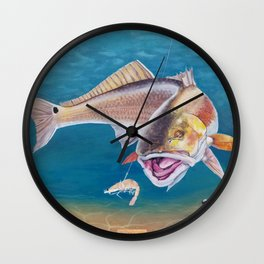 Fish On! Wall Clock