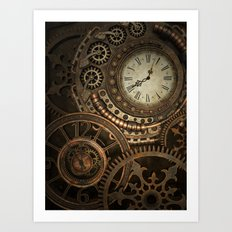 Steampunk Clockwork Art Print
