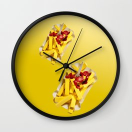 Frietjes Wall Clock