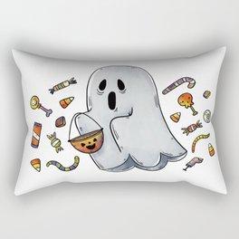 Trick or Treating Halloween Ghost Rectangular Pillow
