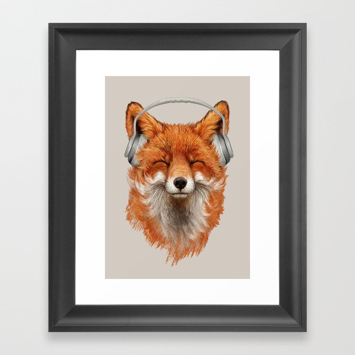 The Musical Fox Gerahmter Kunstdruck