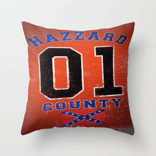 The Duke's a Hazzard! Throw Pillow