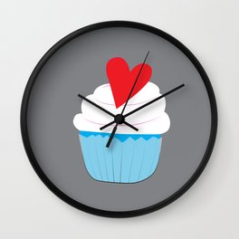 Heart cupcake Wall Clock