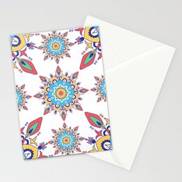 Multiple Colour Moroccan Tile Pattern Stationery Cards