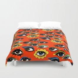 60s Eye Pattern Duvet Cover