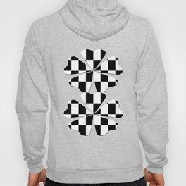 Black White Checker Hoody