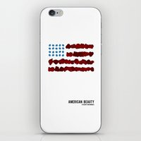 american beauty iPhone & iPod Skins featuring American Beauty by SG Posters