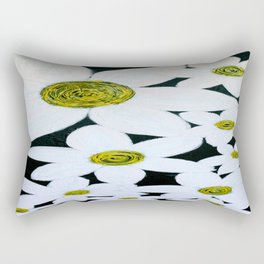 Daisies at Night Rectangular Pillow