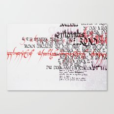 Calligraphic poster IV Canvas Print