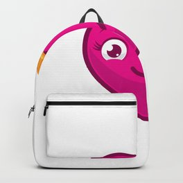 Heart Queencartoon Character Wearing Crown Smiling Backpack