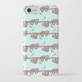 Lazy Baby Sloth Pattern iPhone Case