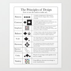 The Principles of Design Art Print
