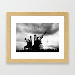 Battersea Powerstation Cranes Framed Art Print