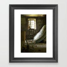 the chair. Framed Art Print