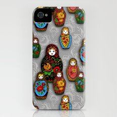 Matryoshki pattern iPhone (4, 4s) Slim Case