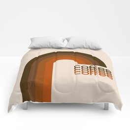 Cocoa Coffee Rainbow Comforters