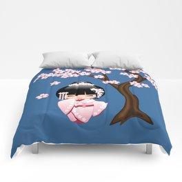 Japanese Bride Kokeshi Doll Comforters
