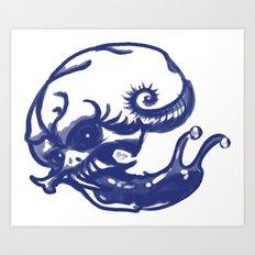 Slug skull Art Print
